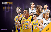 2012-13 Lakers Playoff Schedule - 1st Round Playoffs versus Spurs