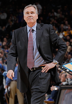 Mike D'Antoni was named NBA Western Conference Coach of the Month