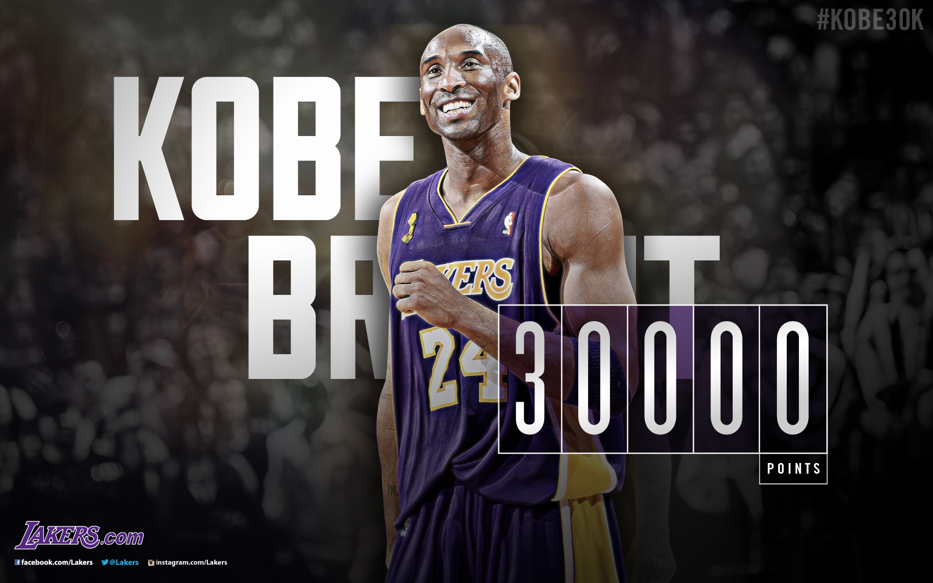Kobe Bryant 30000 Points