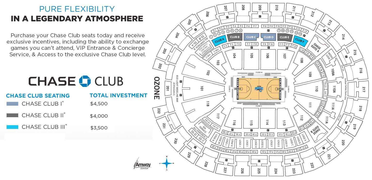 Chase Club Seating