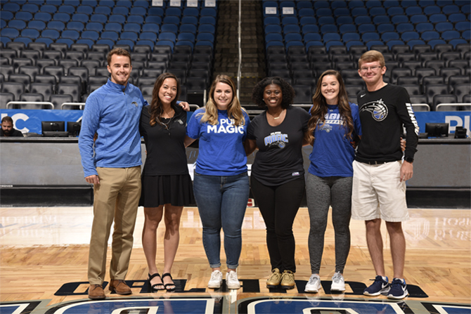 Orlando Magic Interns at Amway