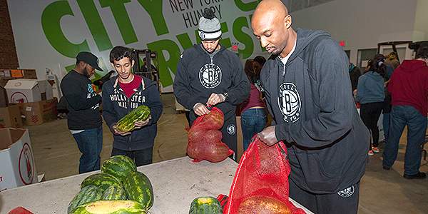 Nets Visit City Harvest