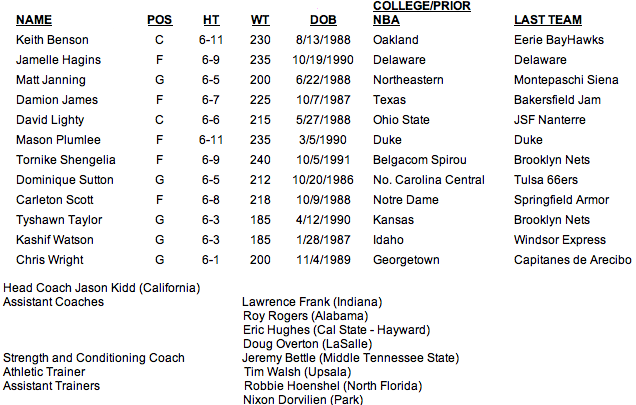 Nets 2013 Summer League Roster