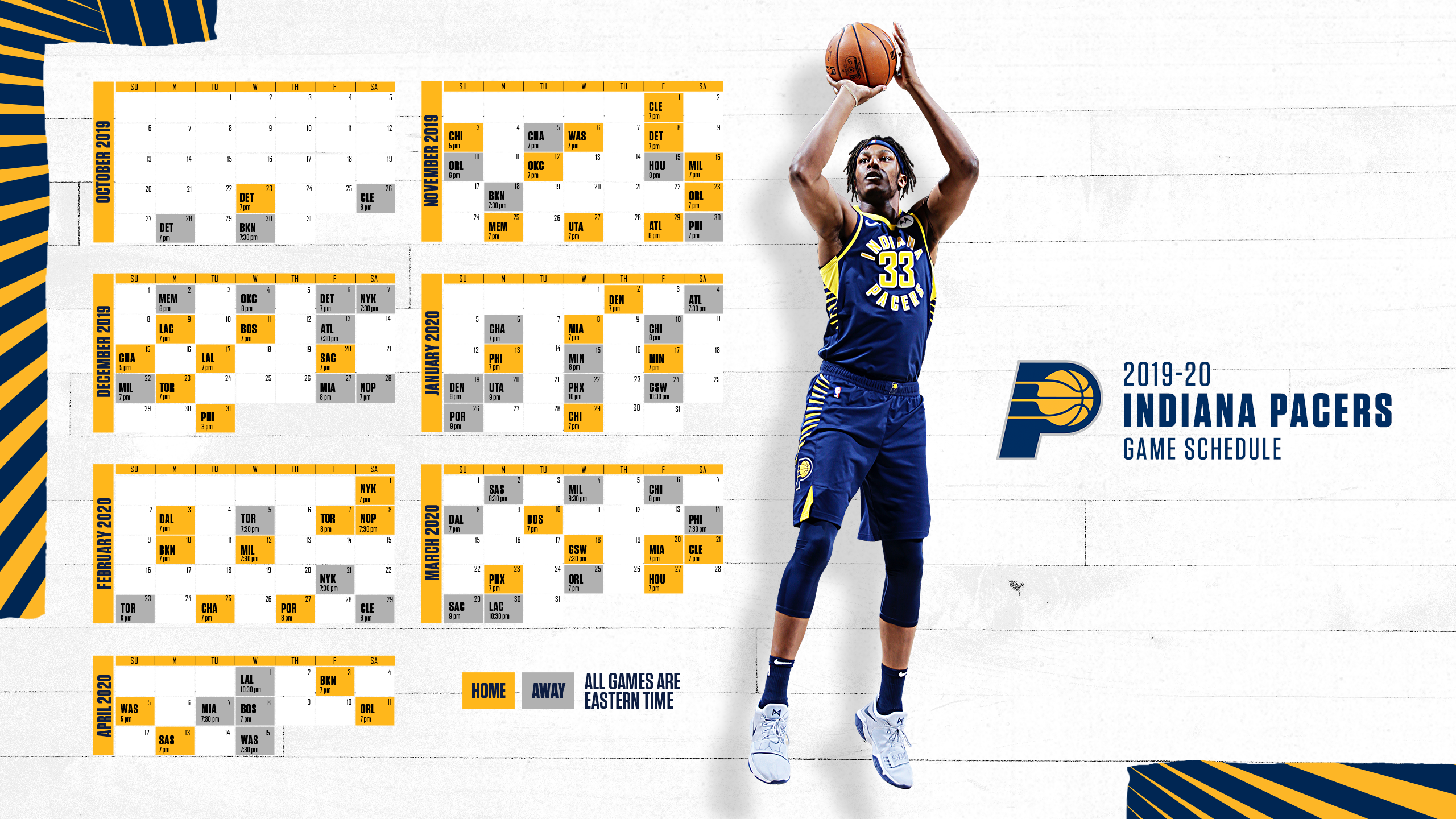Nba Calendario 2020.Indiana Pacers Schedule