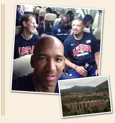 Pelicans Postcards from USA Basketball