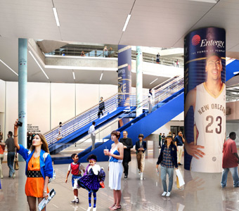 Smoothie King Center interior renovations
