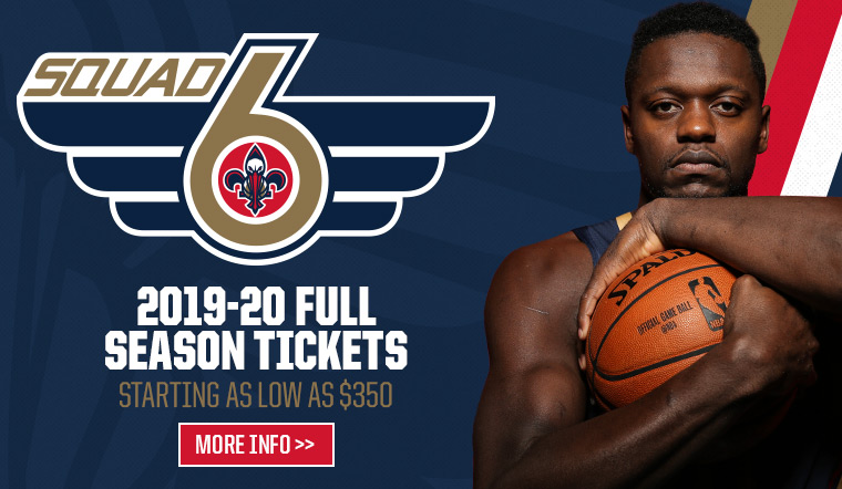 2019-20 Pelicans Full Season Tickets - starting as low as 350 dollars
