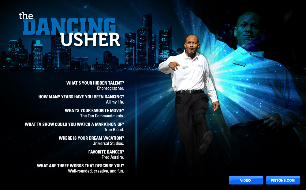 Dancing Usher | THE OFFICIAL SITE OF THE DETROIT PISTONS