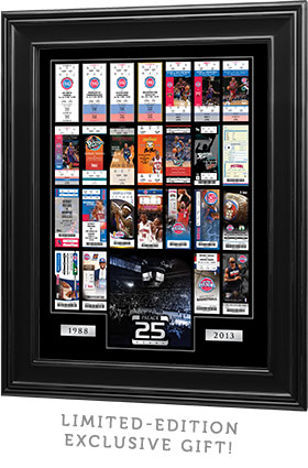Limited-edition exclusive gift: Framed 25th Anniversary ticket collage