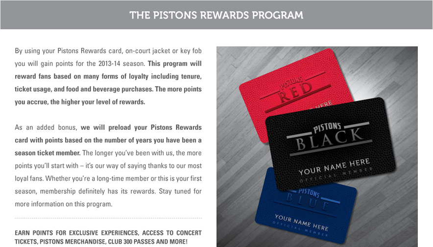 Pistons Rewards
