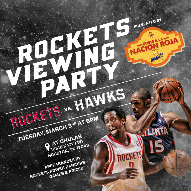 Houston Rockets House Jr: Rockets Viewing Party - March 3, 2015