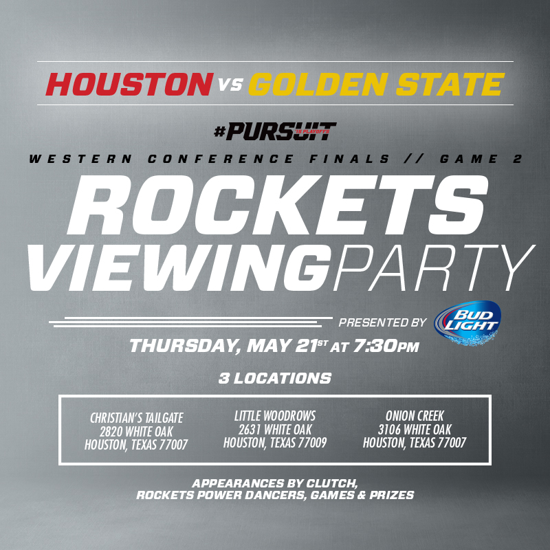 Houston Rockets Viewing Party on May 21st