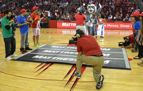 Baby Race at the Toyota Center