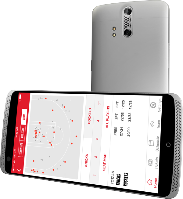 Rockets Mobile App Features