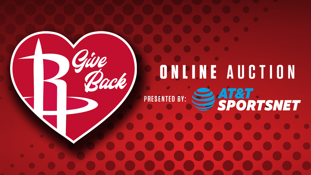 Rockets Give Back Online Auction presented by AT&T SportsNet
