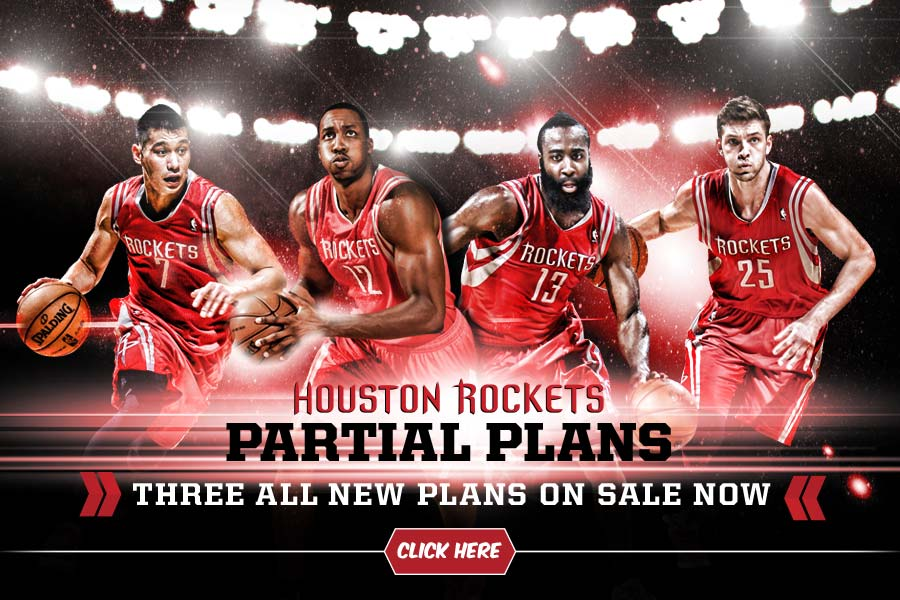 Houston Rockets Partial Plans On Sale Now. Click here!