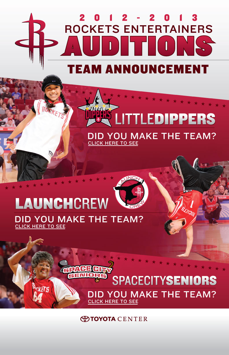 Rockets Entertainers Auditions