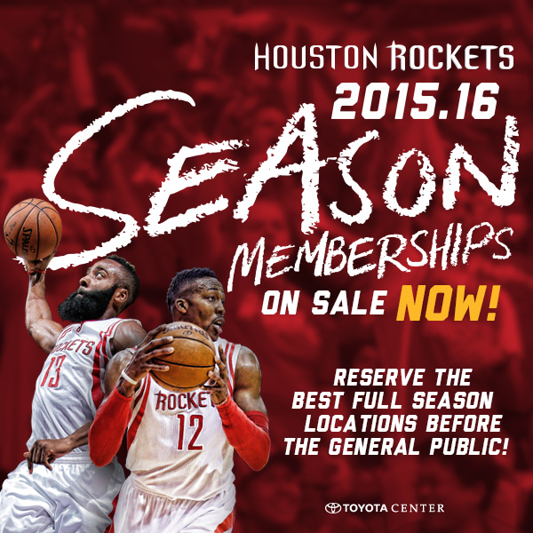 Houston Rockets Championship Roster: 2015-16 Season Ticket Membership