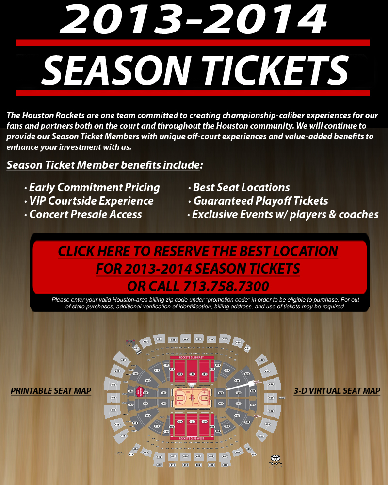 rockets 2014 2015 season tickets the official site of the houston rockets. Black Bedroom Furniture Sets. Home Design Ideas
