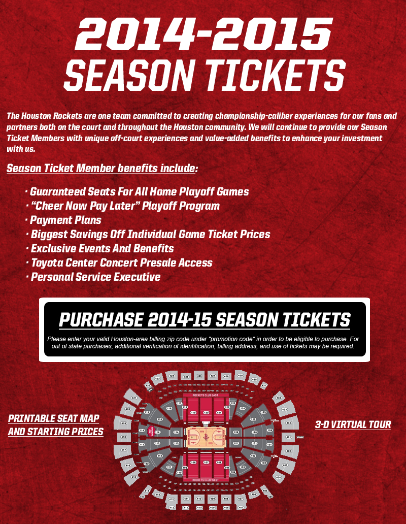 Rockets 2014 2015 season tickets the official site of the houston rockets