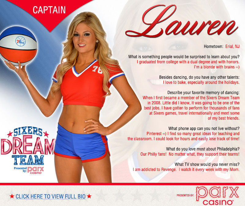 2013-14 Dream Team - Lauren | Philadelphia 76ers