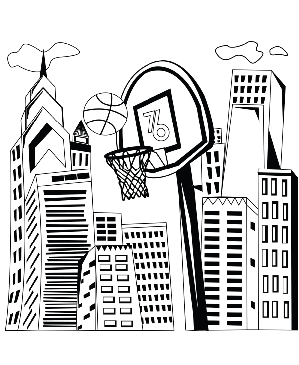 Coloring Pages Philadelphia 76ers