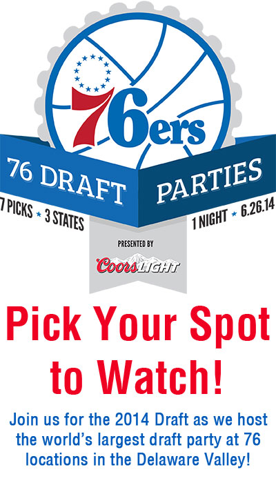 76ers Draft Party Logo