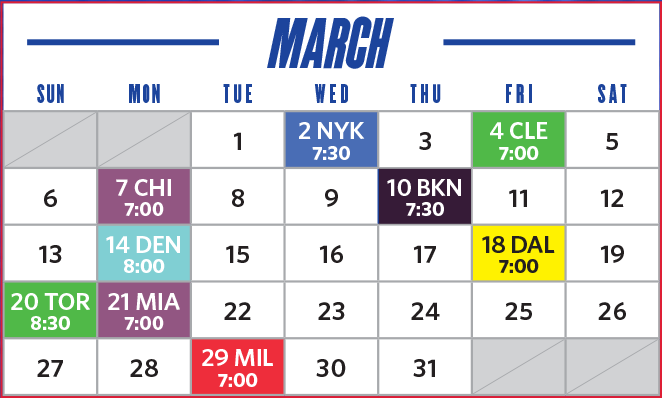 march game schedule