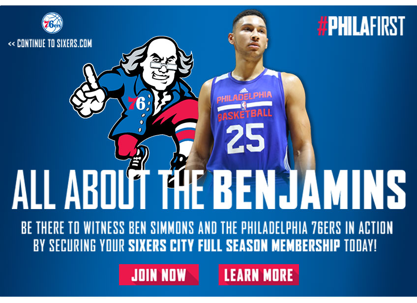 2016-17 Sixers City Splash Page | Philadelphia 76ers