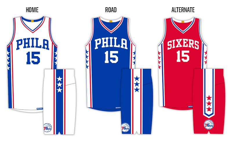 0612ea787 2015-16 Sixers Uniforms