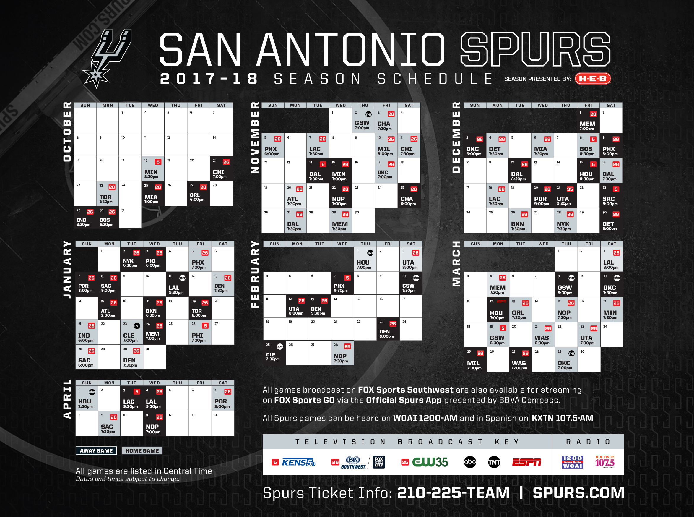 Nerdy image for spurs schedule printable