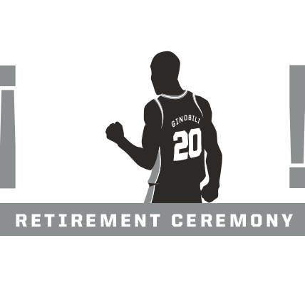 wholesale dealer 6c42f 1ad7e Manu Ginobili Jersey Retirement Night | San Antonio Spurs