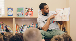 Patty Mills visits Green Valley Elementary