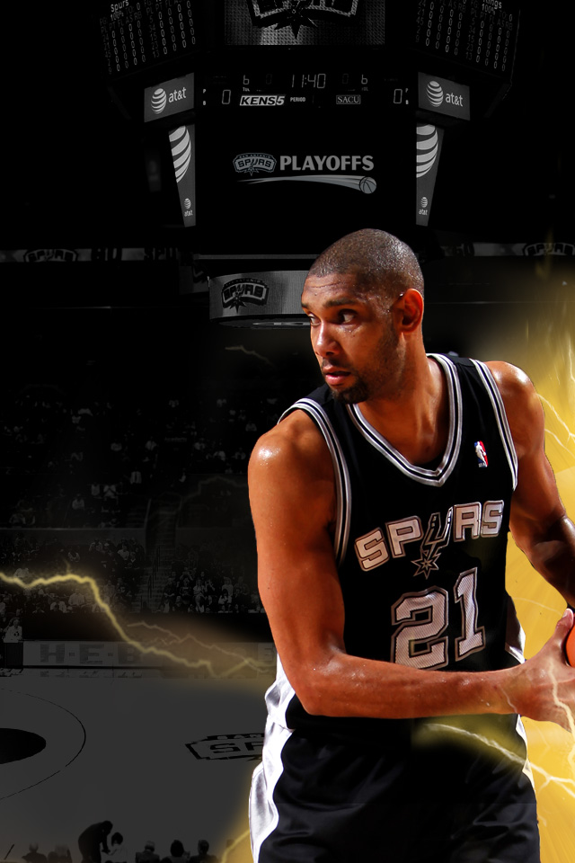 Iphone playoff wallpapers the official site of the san - Tim duncan iphone wallpaper ...
