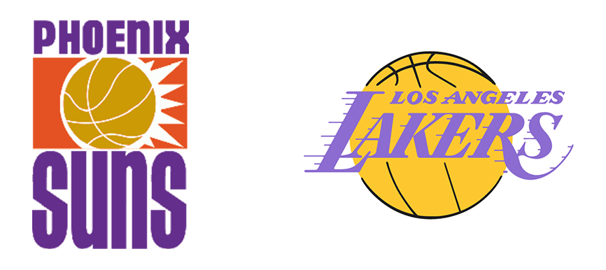 Phoenix Suns vs Los Angeles Lakers 1990
