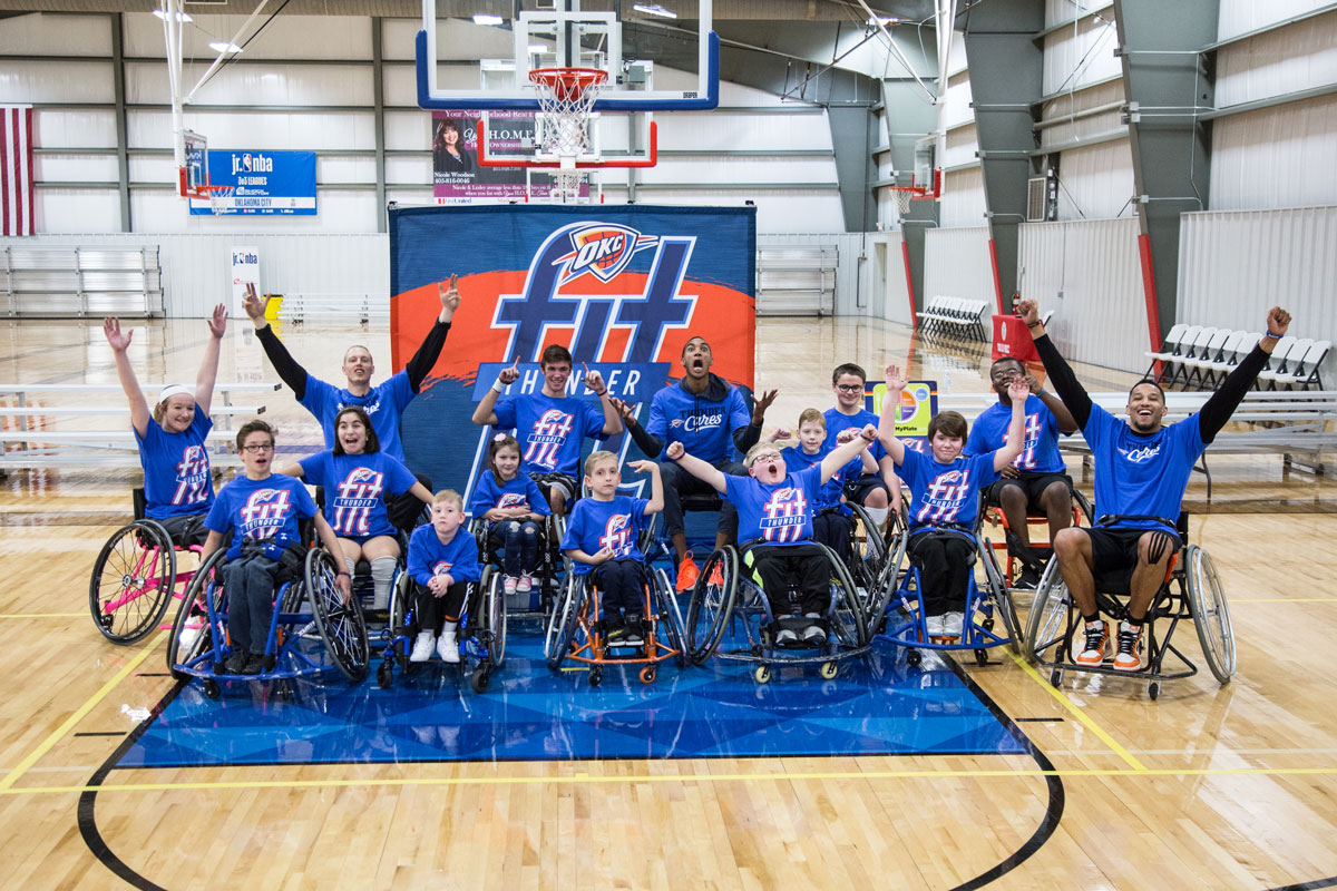 Wheelchair Hoops Stoke Competitive Fire at Fit Clinic ...