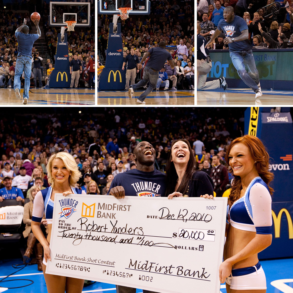 Midfirst Bank half-court shot
