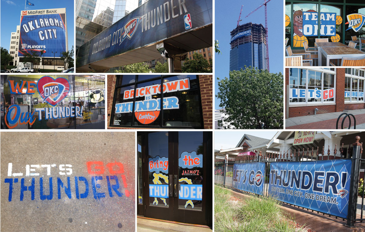SURE SIGN OF SPRING IN OKC: PLAYOFF SIGNAGE
