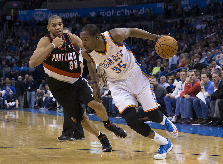photo gallery second look thunder vs trail blazers