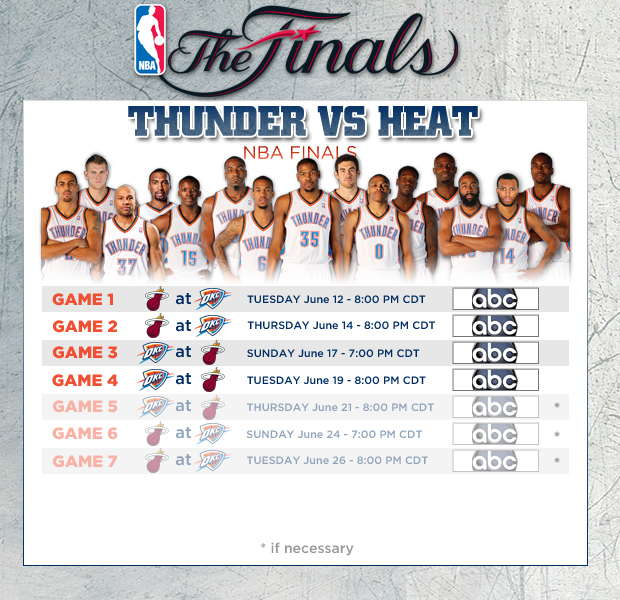 NBA Finals Schedule   THE OFFICIAL SITE OF THE OKLAHOMA ...