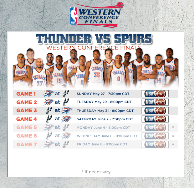 Western/Eastern Conference Finals Schedule