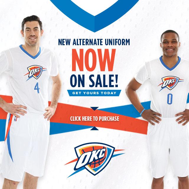 oklahoma city thunder youth jersey