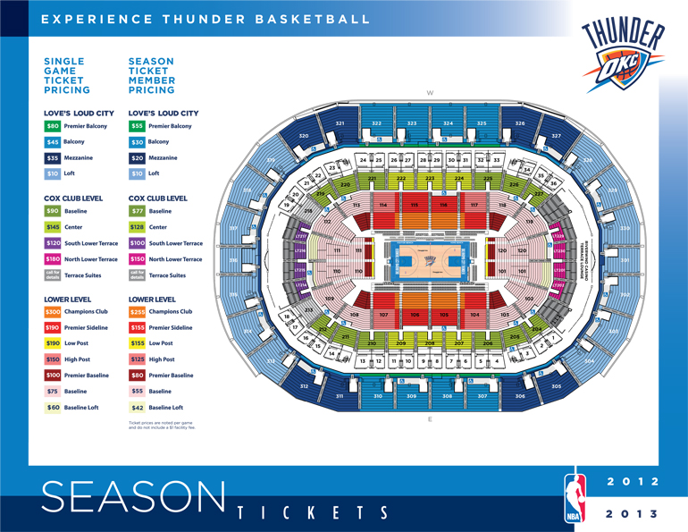 Oklahoma city thunder arena seating chart brokeasshome com