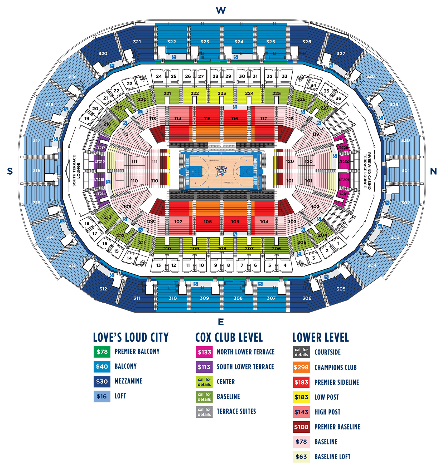 2018 19 season ticket member pricing oklahoma city thunder