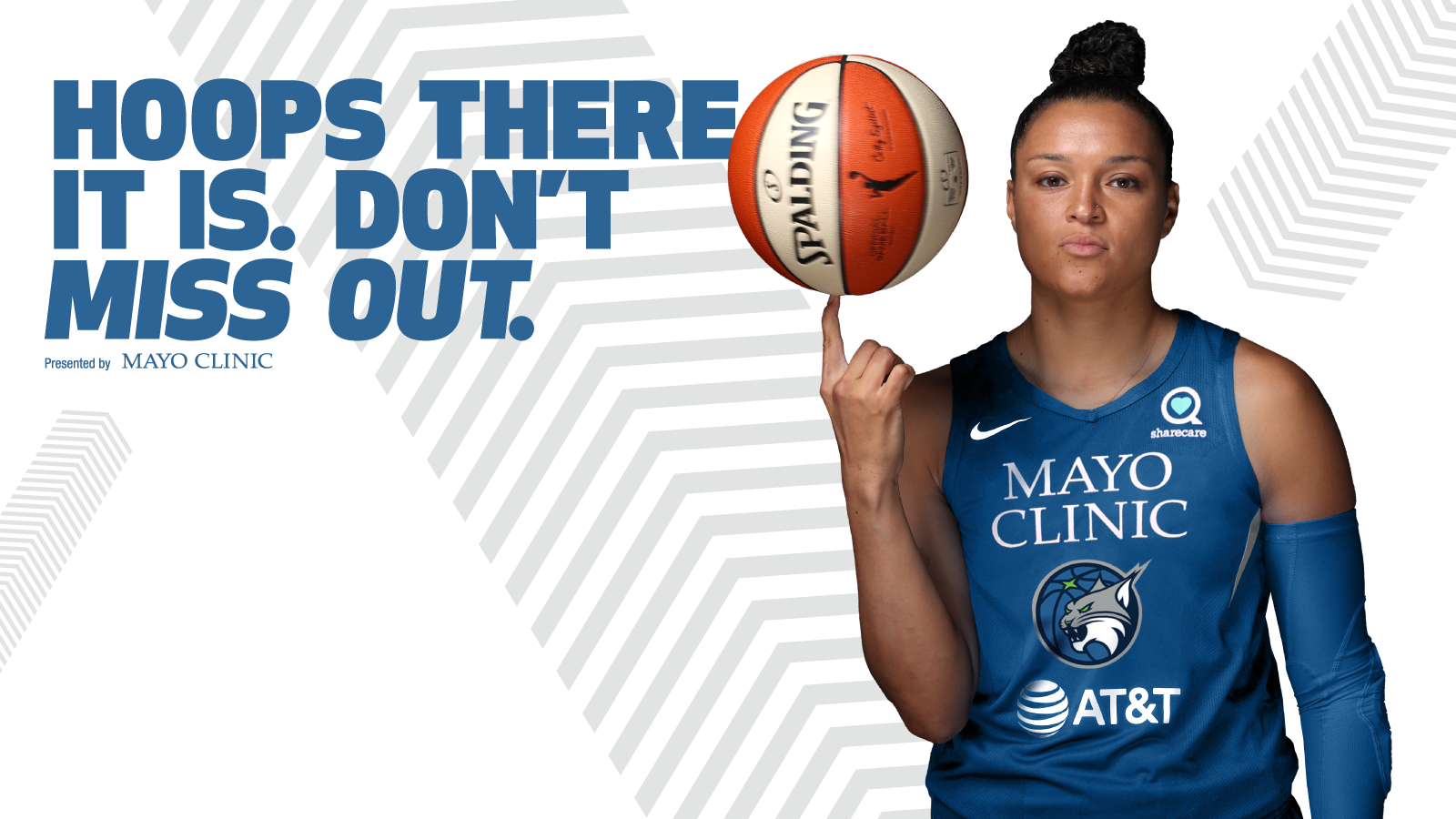 hoops there it is. dont miss out. presented by mayo clinic