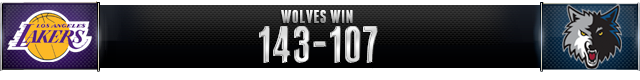 Wolves Win 143-107