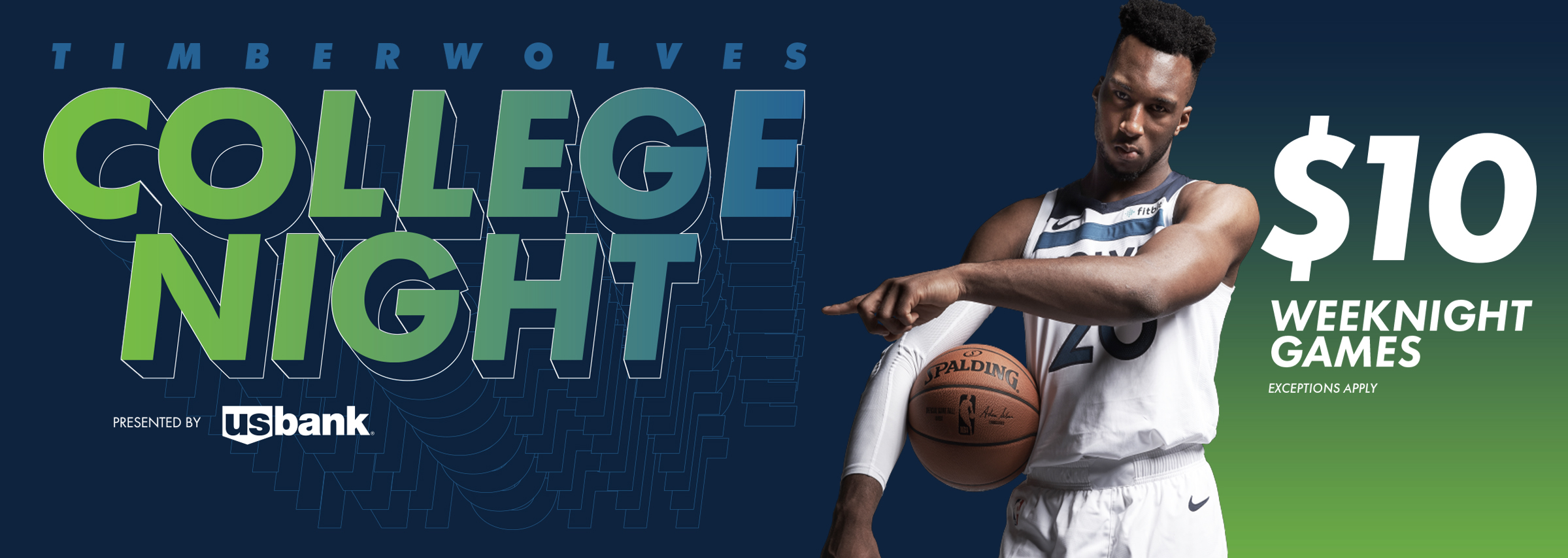 Timberwolves College Night Presented By U S Bank Minnesota