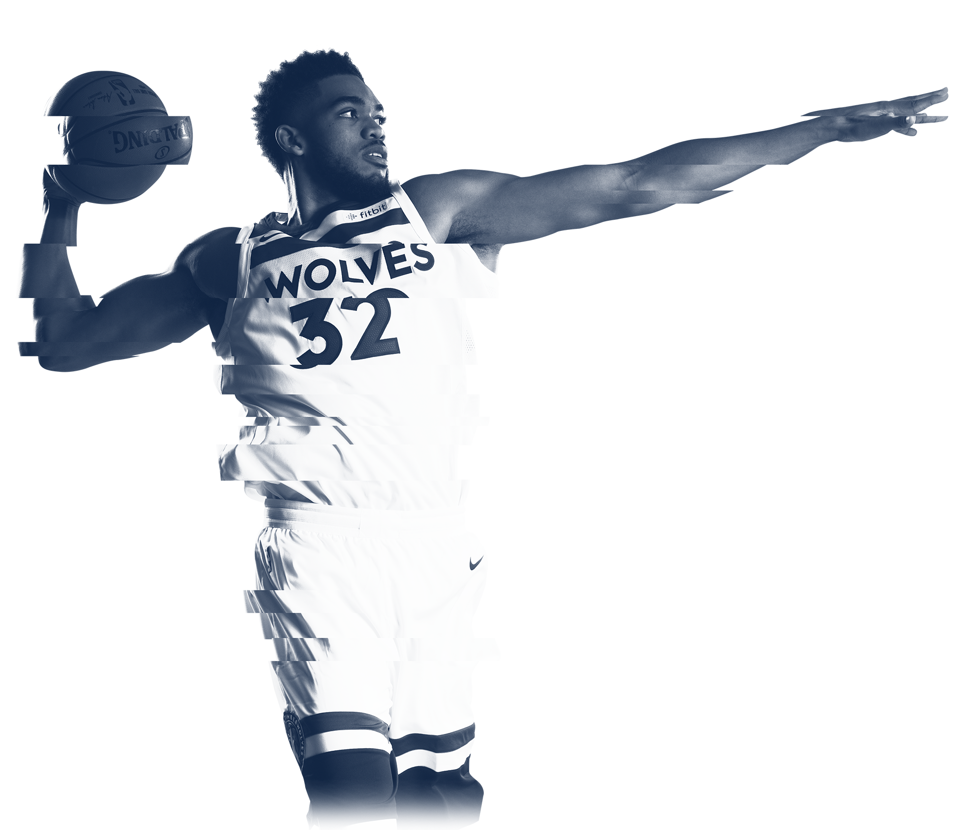 Karl-Anthony Towns Glitch Effect