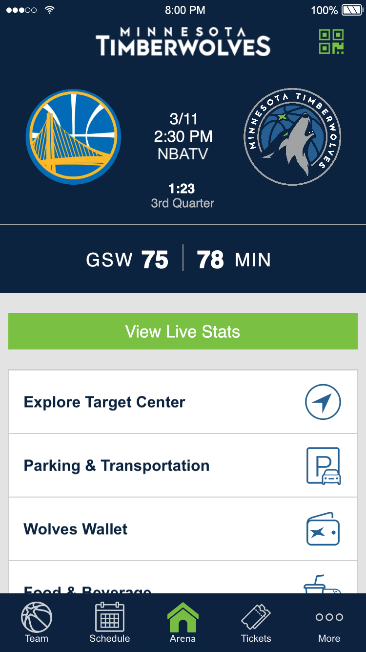 Wolves Assist Team on the Timberwolves App