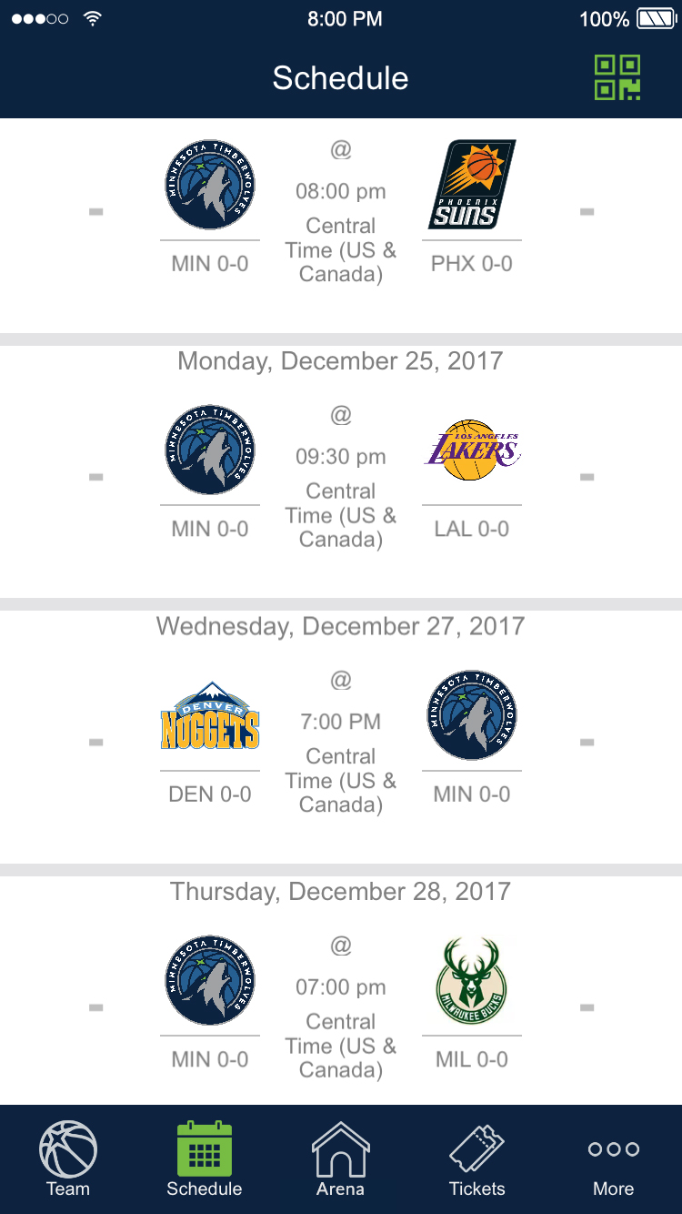 Browse Schedule, View Highlights on the Timberwolves App